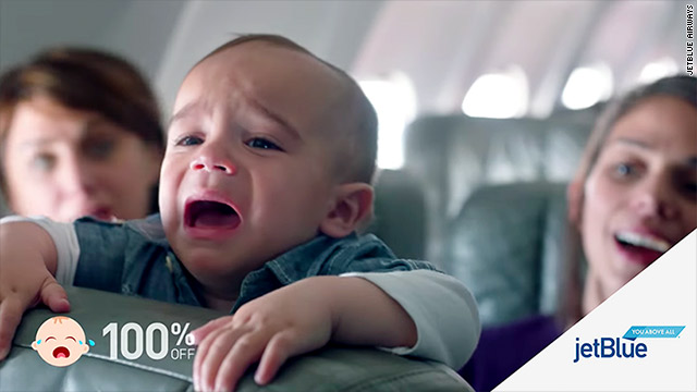 4 crying babies brought a free flight for jetblue passengers