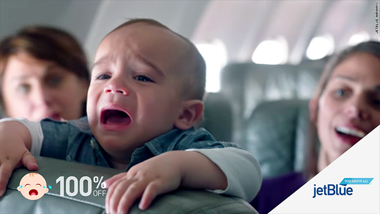 jet blue crying babies