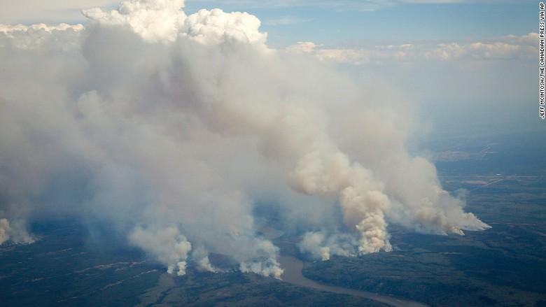 fire oil town Alberta Canada
