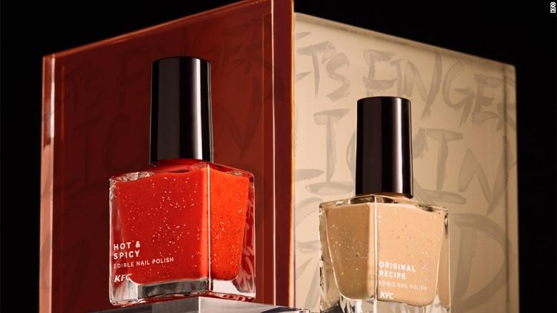 kfc nail polish bottles