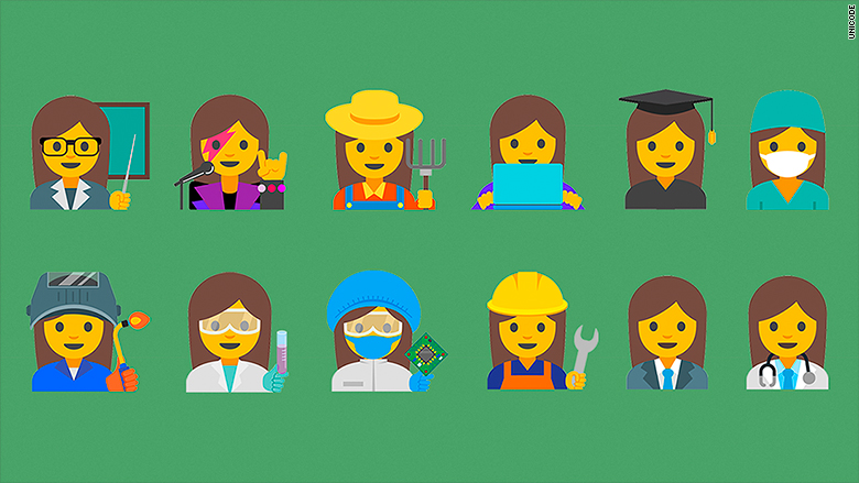 female profession emojis