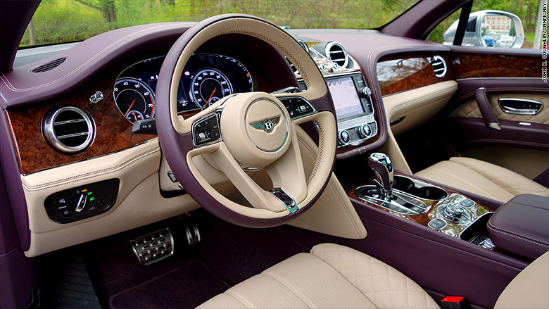 Elegance Inside Driving Bentley S New Suv Cnnmoney
