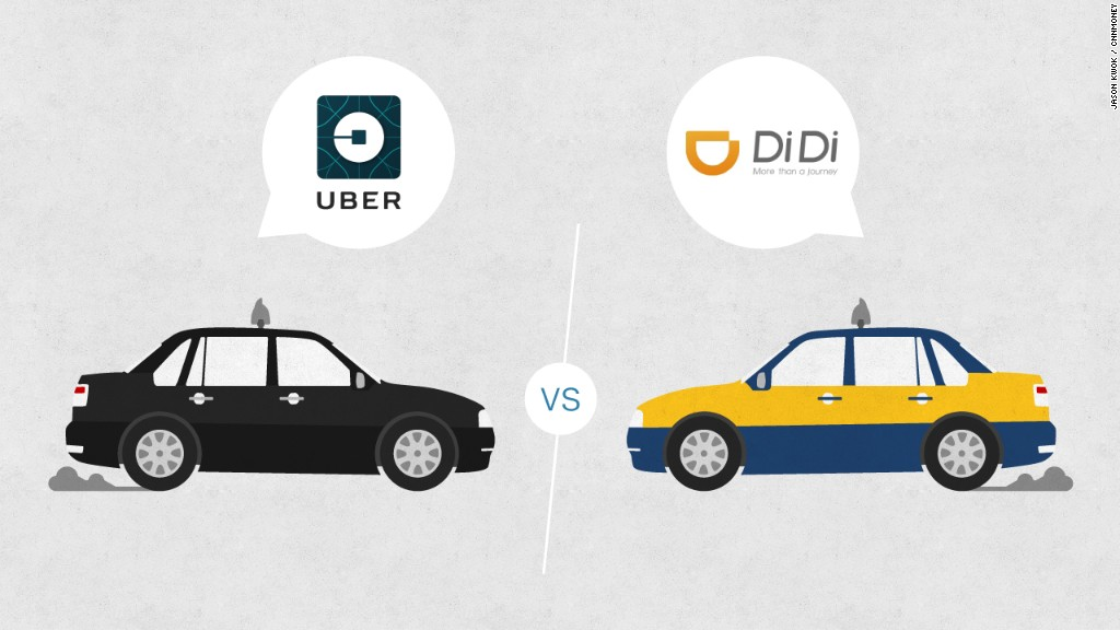 Uber, Didi Chuxing battle for Chinese taxi market