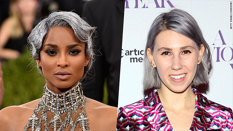 The science behind that gray hair dye fad
