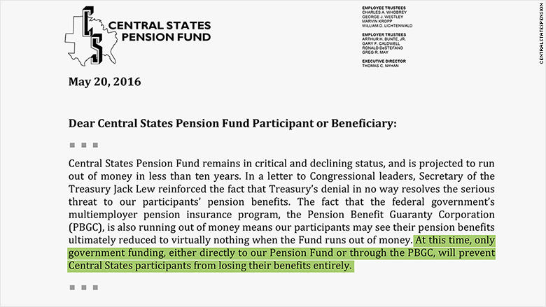 central states pension