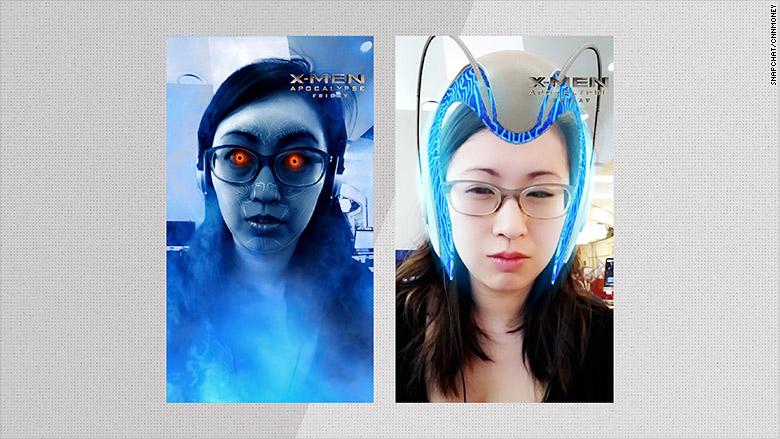 snapchat xmen filters