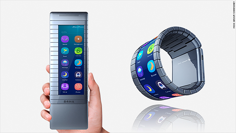 china moxi bendable mobile phone