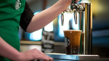 Now Starbucks is serving 'Nitro brew' coffee from a tap