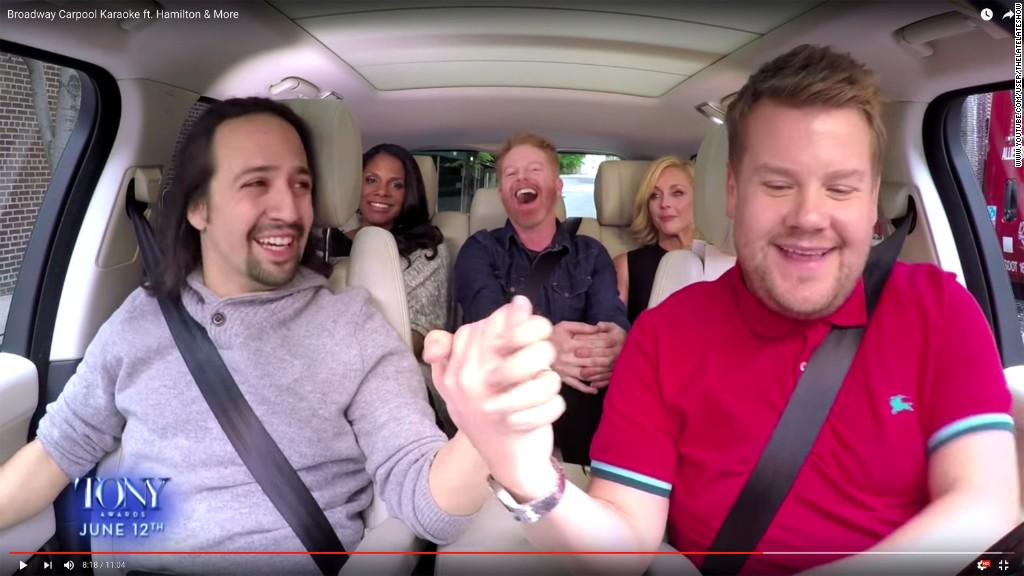 Broadway stars take over carpool karaoke