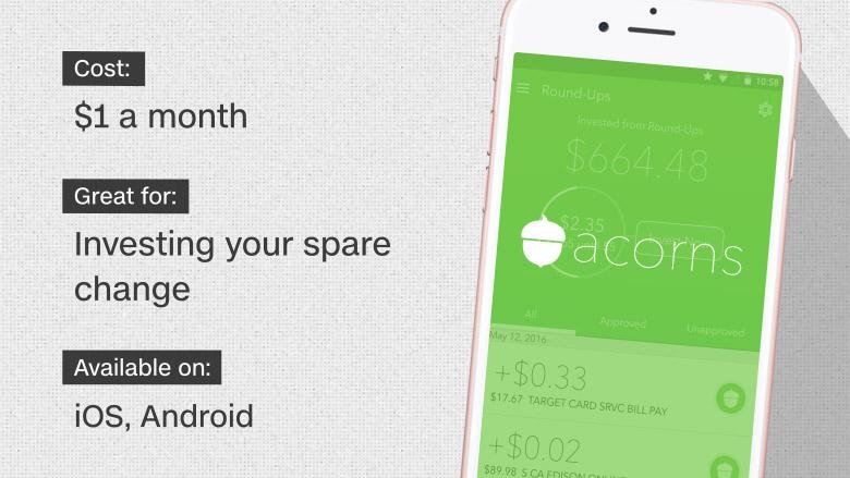 Acorns - 10 best investing apps and websites - CNNMoney