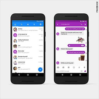 Facebook Messenger can now send SMS text messages