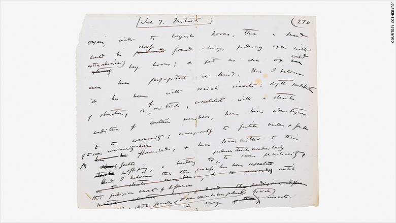 Darwin manuscript of On the Origin of Species