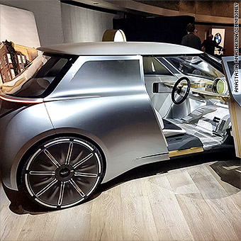 The Mini Vision Next 100 Is Also Much Closer In Size To Clic Coopers Truly Tiny Cars That Make Today S Minis Seem Gargantuan