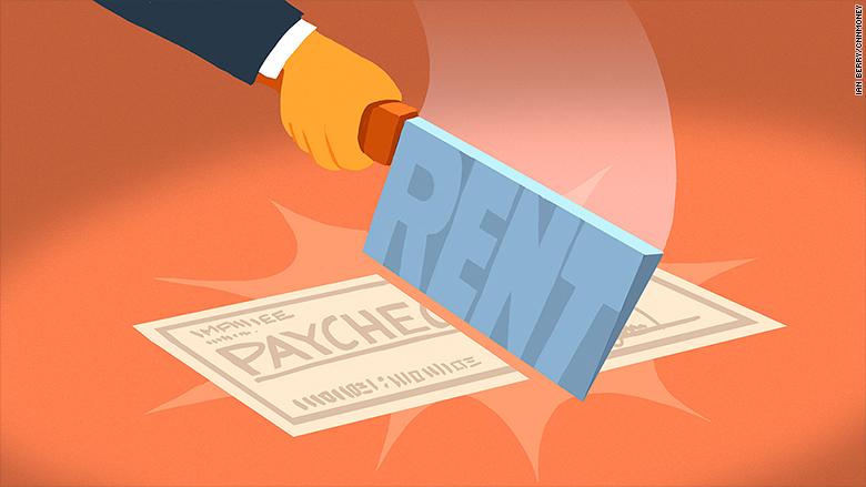 half pay check rent
