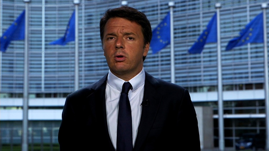 Prime Minister Renzi on risk to Italian banks
