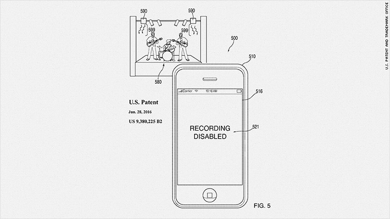 apple patents technology to block your phone camera