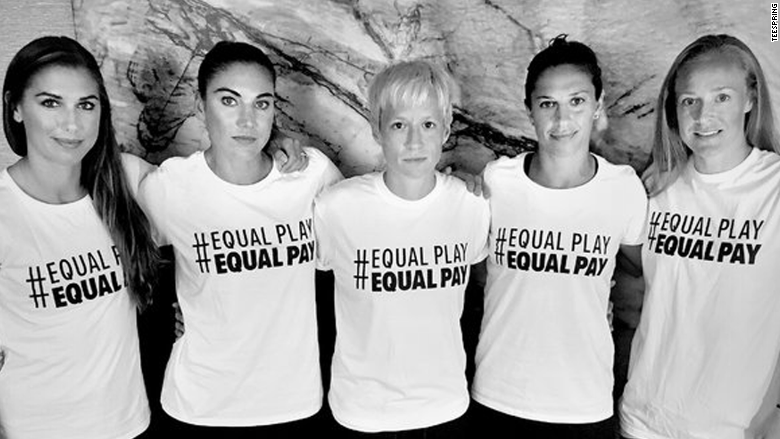 Hope Solo on 'Equal Play Equal Pay' t-shirts: We'll keep ...