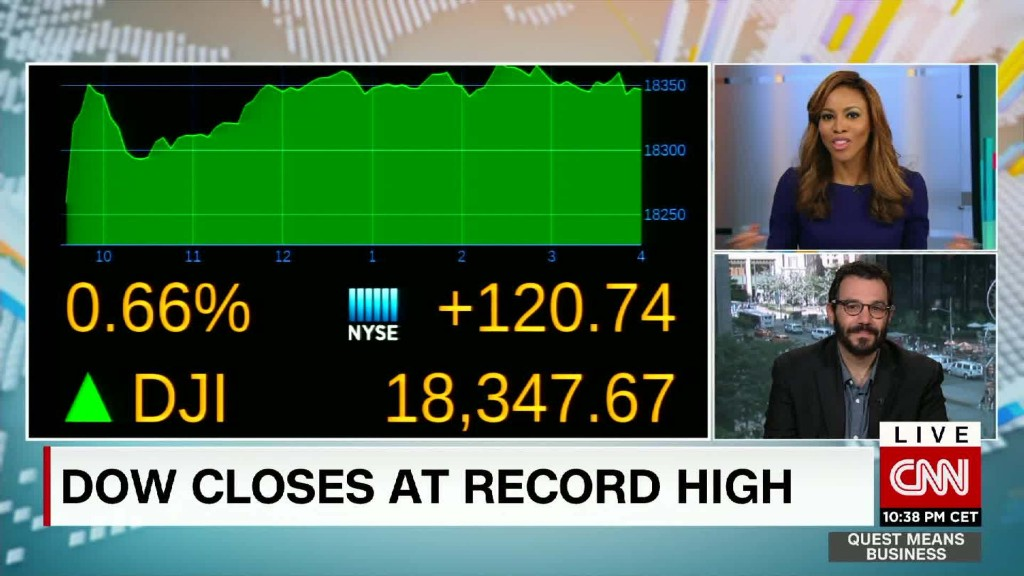 Dow and S&P 500 close at record highs