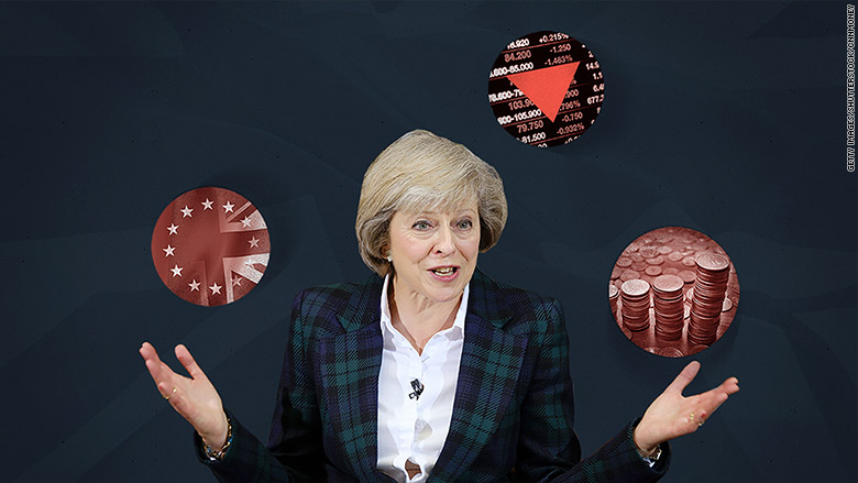 uk pm theresa may juggles