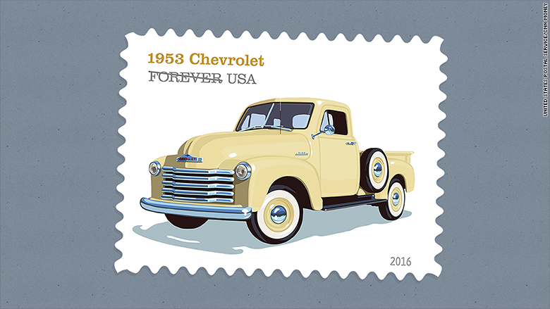 retro truck stamps 1953