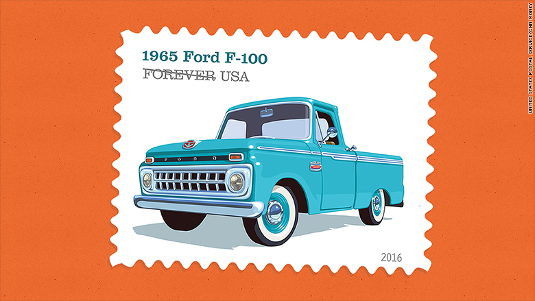 retro truck stamps 1965