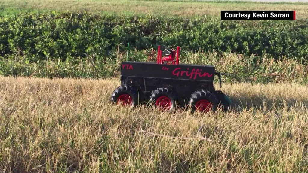 Student-build robot protects RNC from bombs