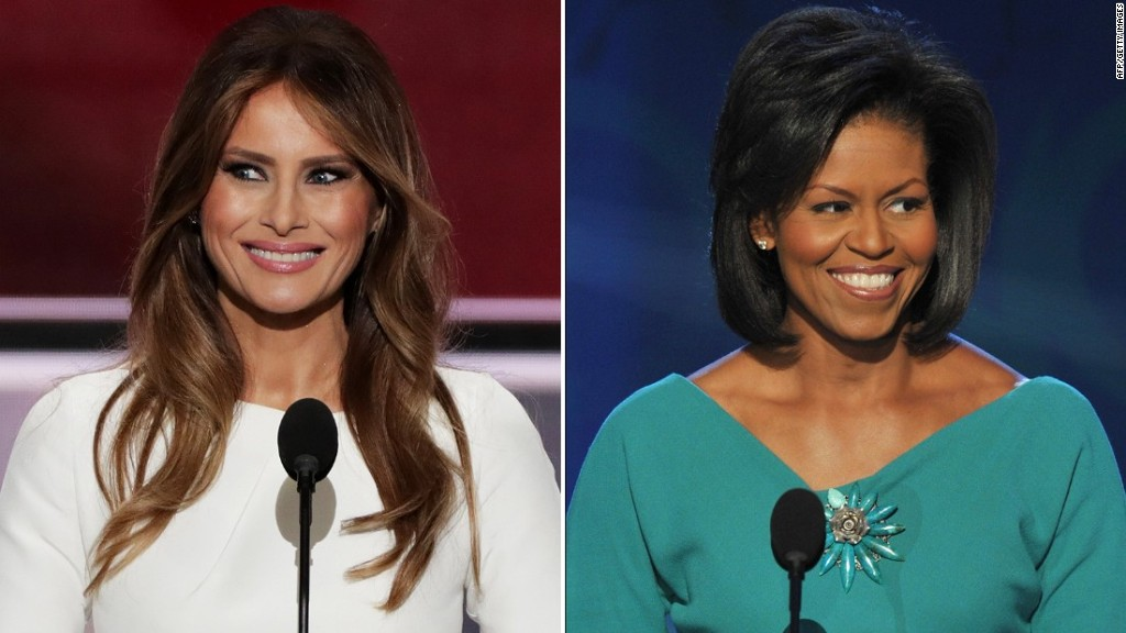 Did Melania Trump plagiarize Michelle Obama's speech?