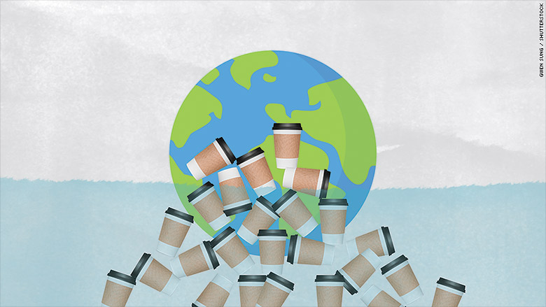 coffee cup pollution