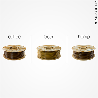 Yes, you can totally use beer, coffee and hemp for 3D printing