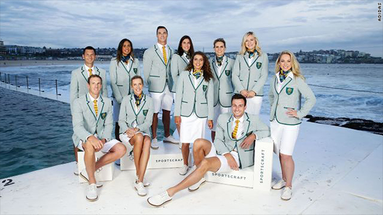 olympics uniforms fashion athletes australia