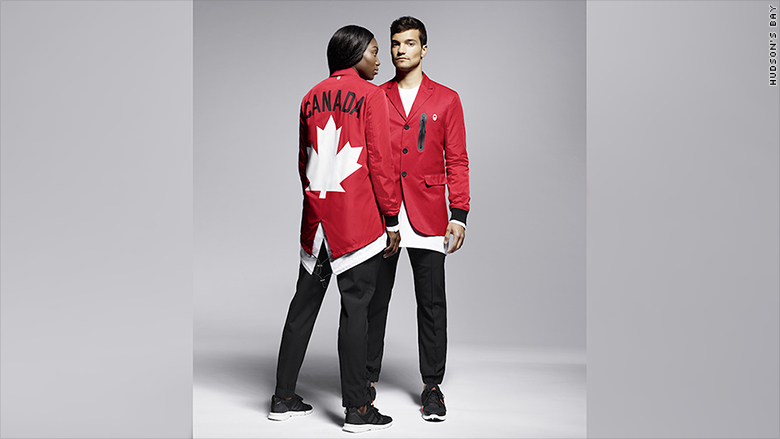 olympics uniforms fashion athletes canada