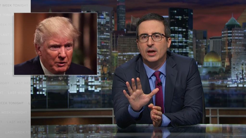 John Oliver slams Trump's 'sacrifices'