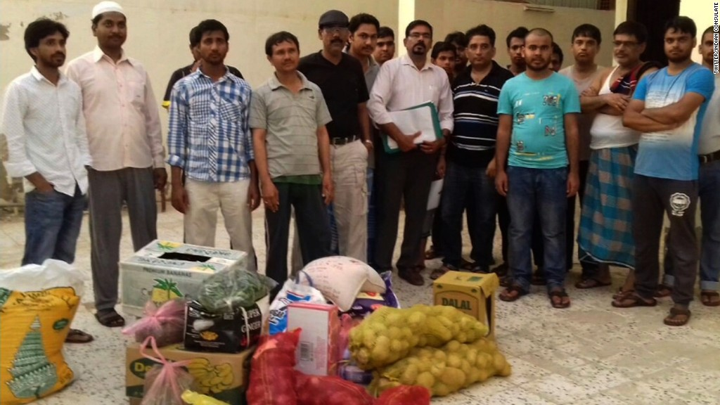 India sends food aid to workers in Saudi Arabia