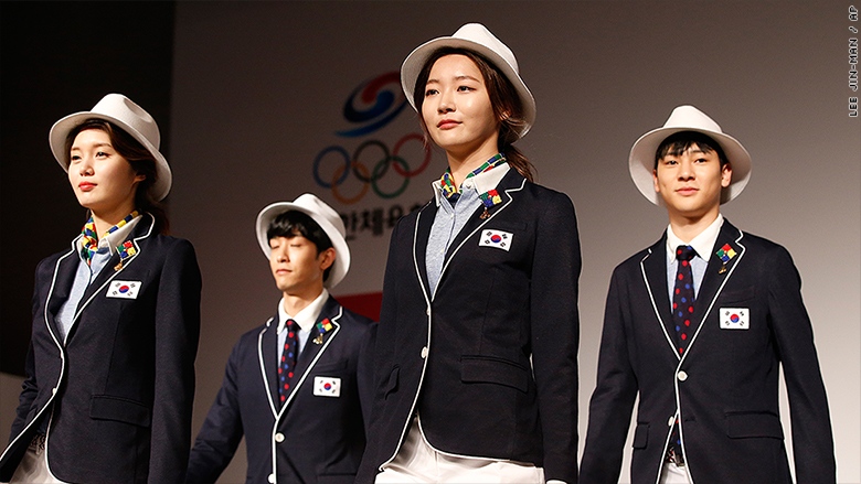 olympics unforms fashion athletes south korea