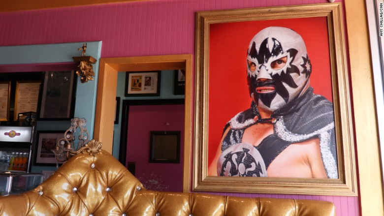 Lucha Libre Taco Shop Booth