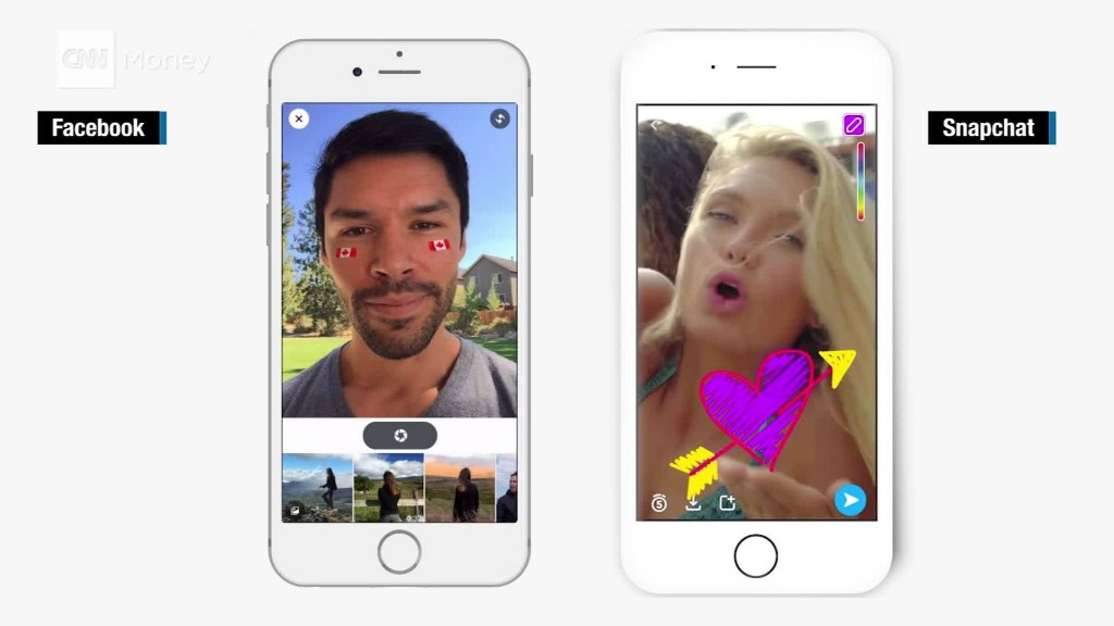 Facebook's update looks a lot like Snapchat