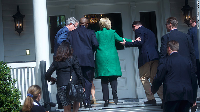 hillary clinton stairs