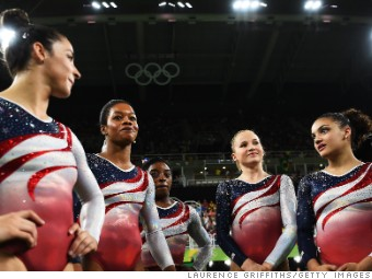 8ee0a7d2241b Olympic gymnasts  gem-studded uniforms come with dazzling price tag