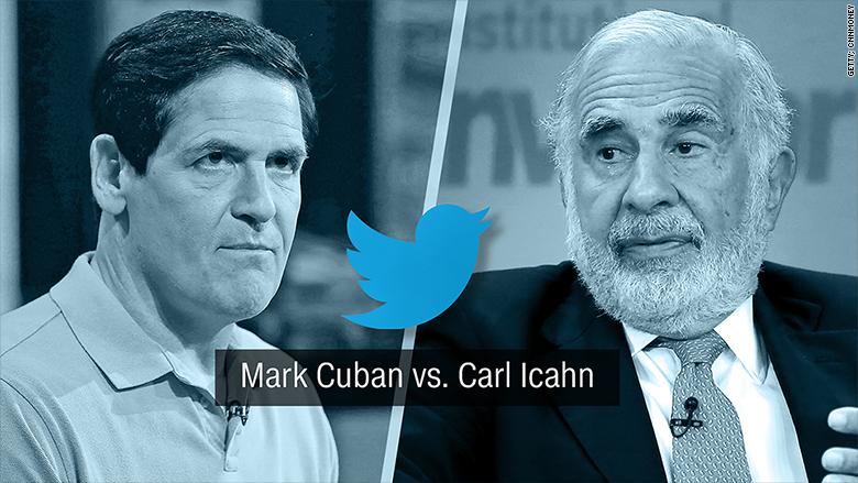 mark cuban carl icahn twitter fued