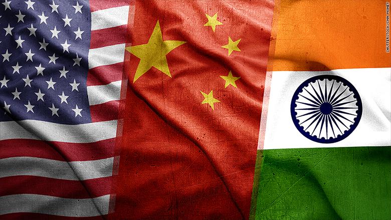 us china india flags