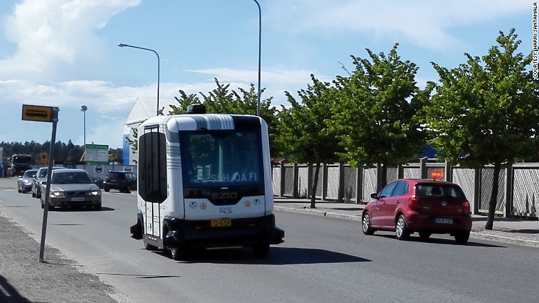 self driving bus