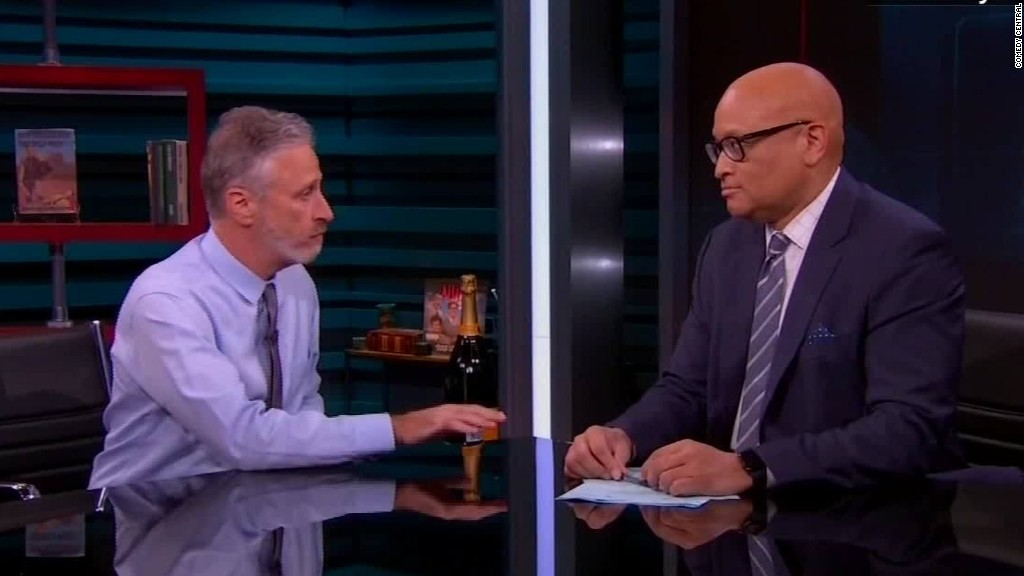 Jon Stewart shows up on the last 'Nightly'