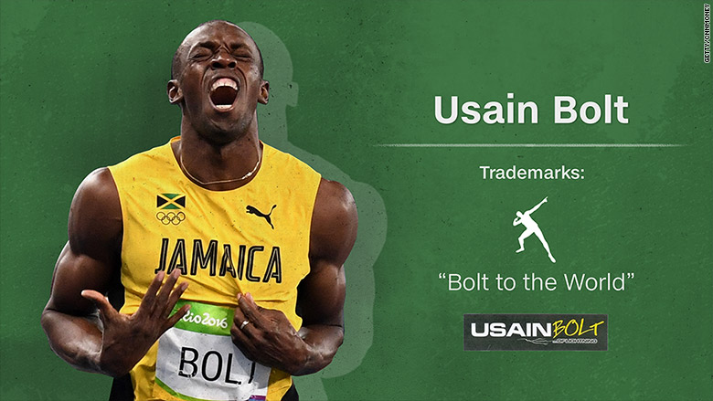 trademark usain bolt