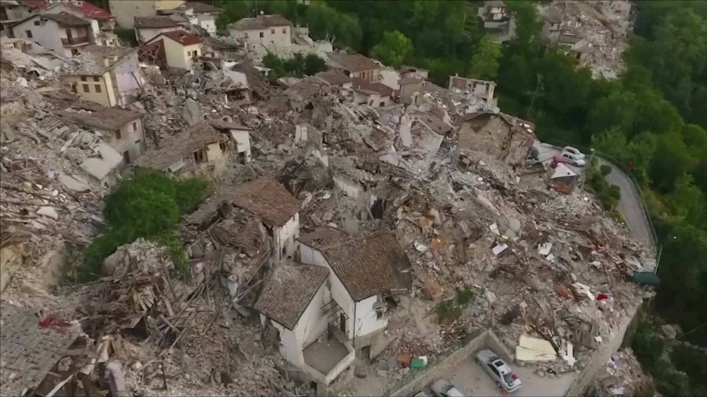 Towns destroyed in Italy's earthquake