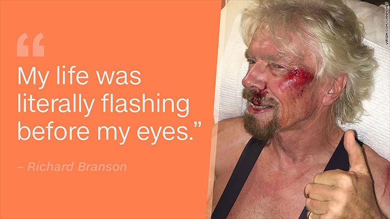 richard branson bike injury quote
