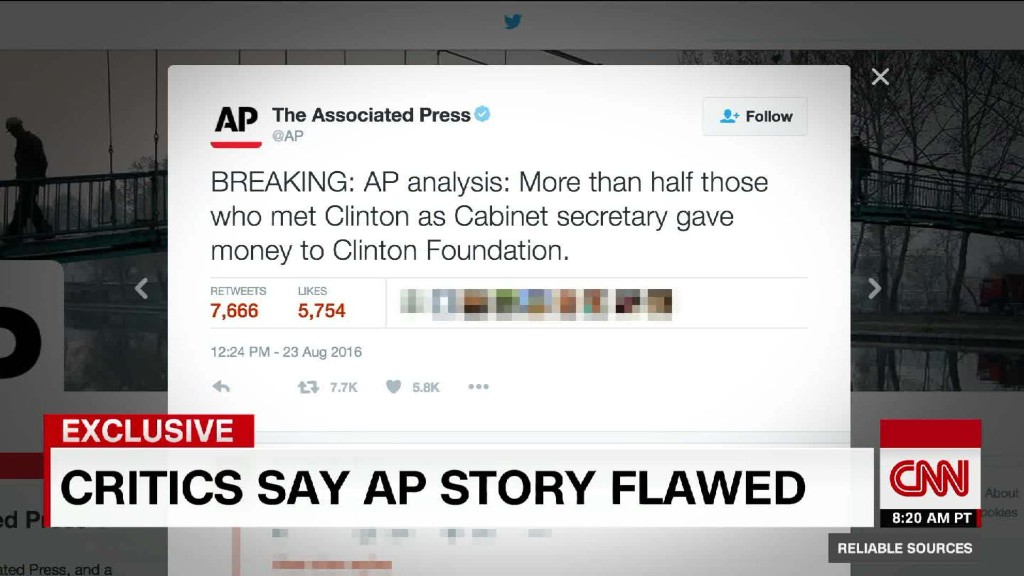 Associated Press editor: Clinton Foundation tweet was sloppy