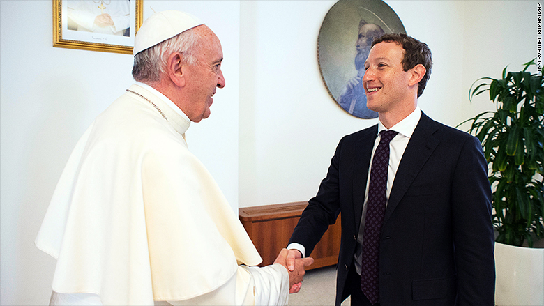 mark zuckerberg pope francis 2