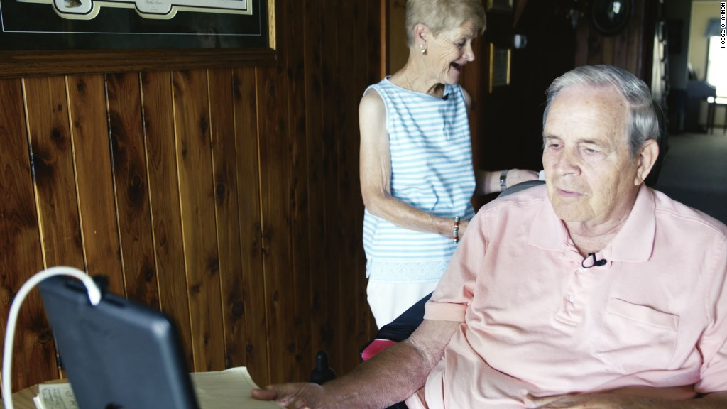 Seniors swap hospital visits for iPads