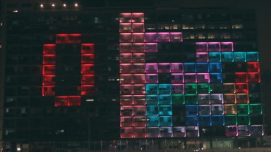 Tel Aviv turns City Hall into a giant playable Tetris game