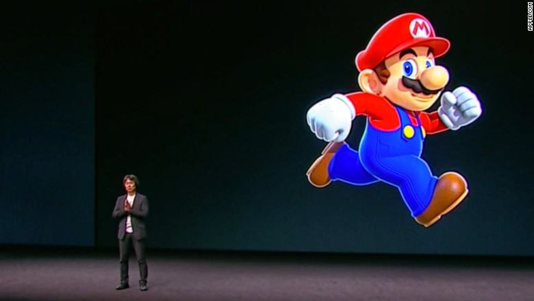 apple event 2016 mario nintendo